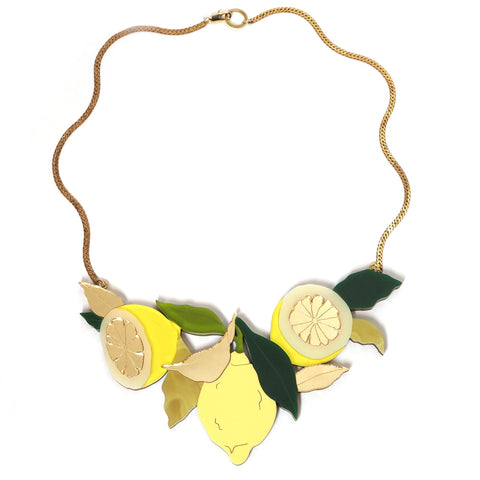 Lemon Grove Acrylic Statement Necklace