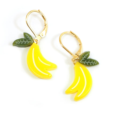 Woll - Small Acrylic Banana Earrings