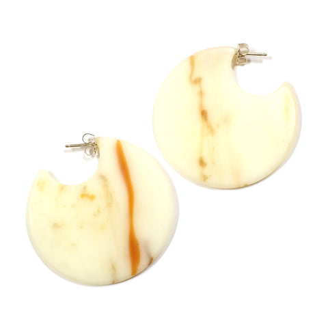 Acrylic Formation Earrings in Caramel