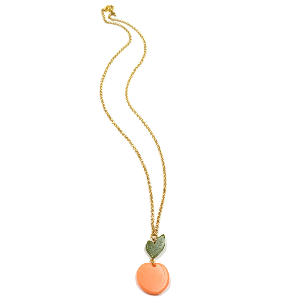 Woll Jewellery Acrylic Peach Necklace - Full Length