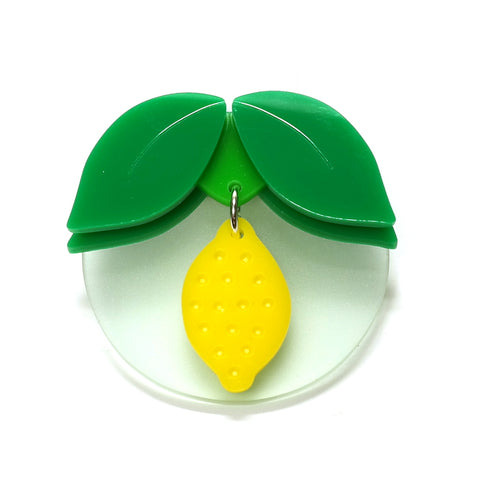 hand cut acrylic lemon brooch i am acrylic