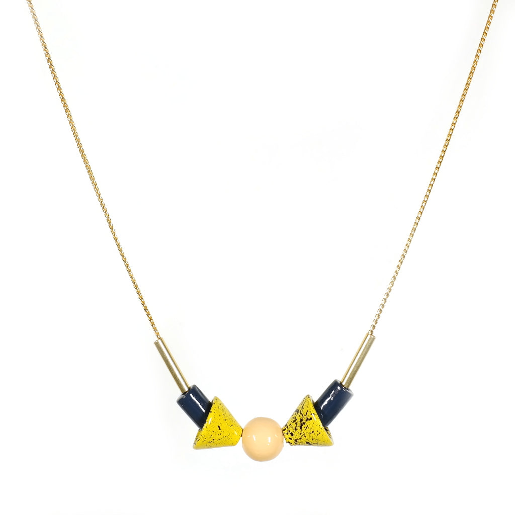 anoki hand painted wooden necklace by apres ski detail