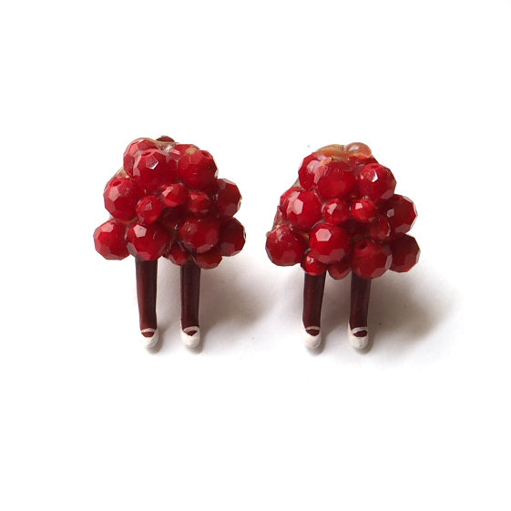 Berry Person Clip On Earrings
