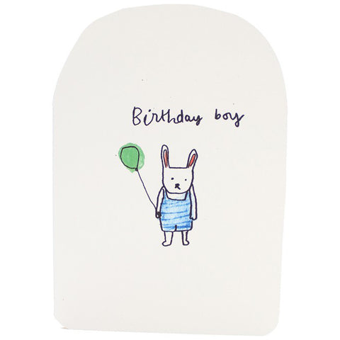 Birthday Boy Bunny Card