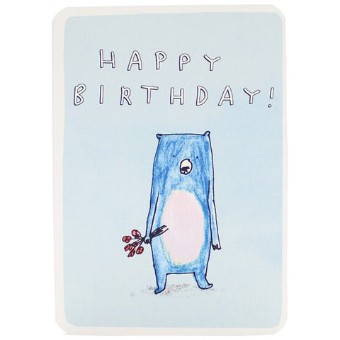 Happy Birthday Flower Bear Card