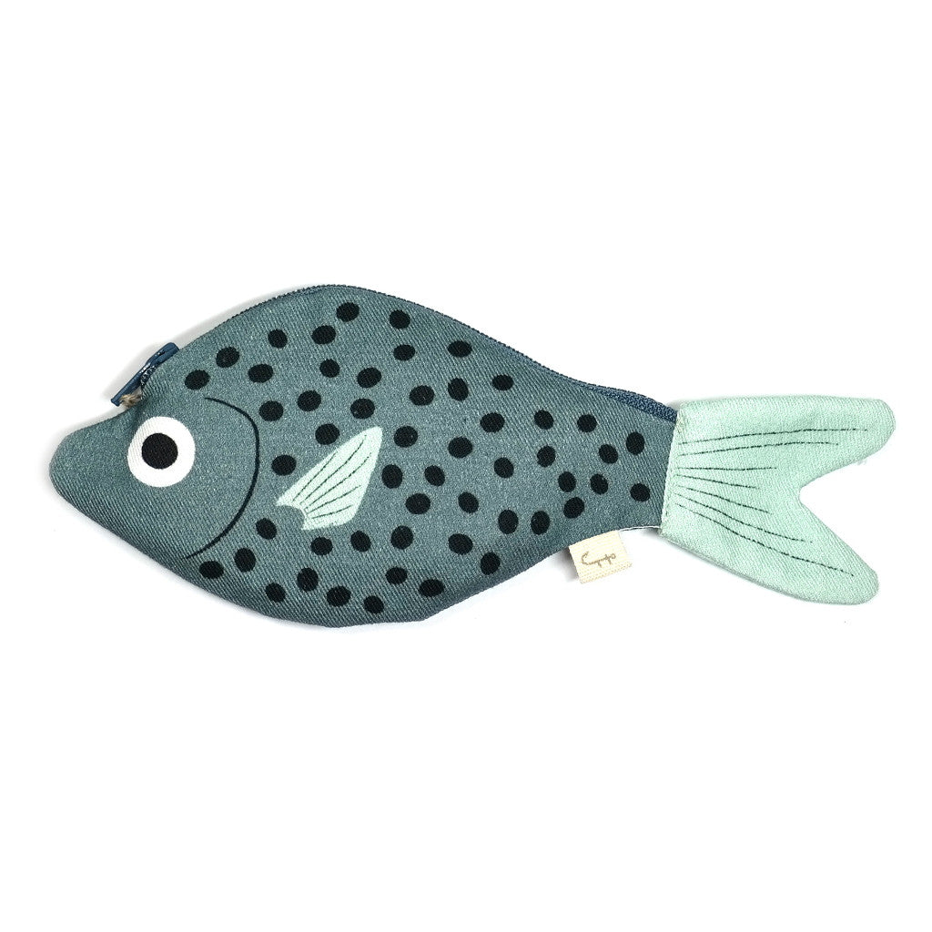 blue polka dot bream purse by don fisher