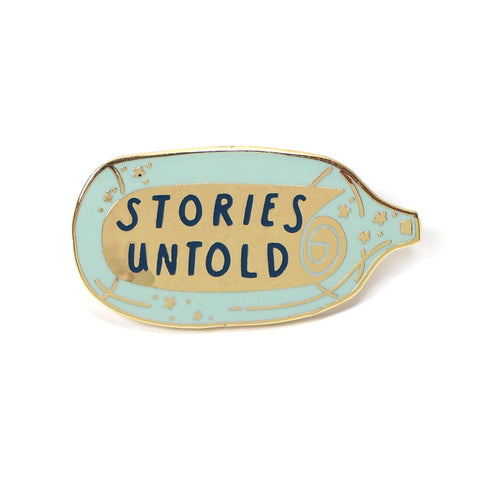 Stories Untold Enamel Pin