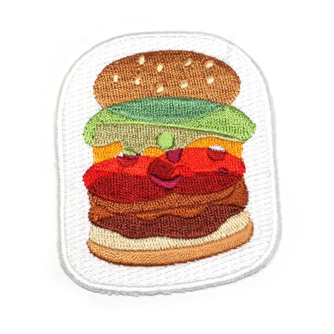 Burger Iron-On Patch