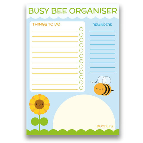 Busy Bee paper daily organiser with to-do list and reminders
