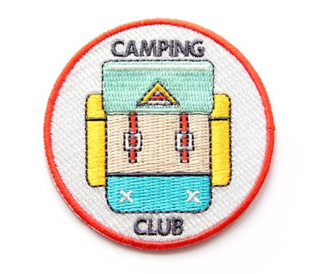 Camping Club Iron-On Patch