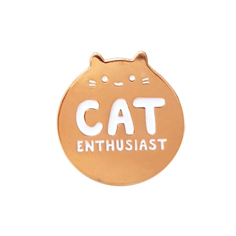 rose gold enamel cat enthusiast pin by sparkle collective
