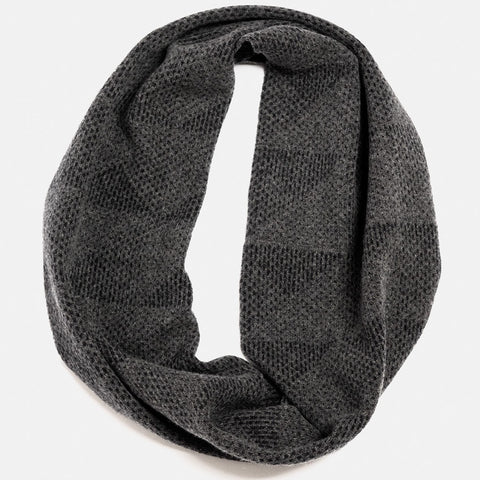 Doric Lambswool circle scarf in grey charcoal by hilary grant