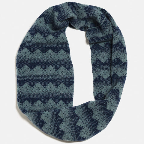 sanna lambswool circle scarf in caspian and navy by hilary grant