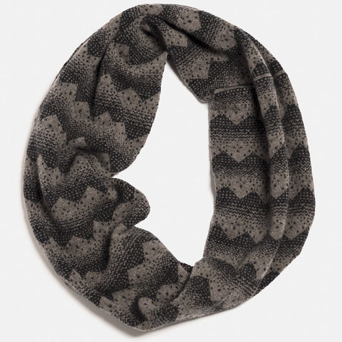 sanna lambswool circle scarf in vole charcoal by hilary grant
