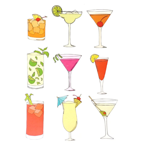 Cocktail Temporary Tattoo Set