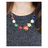 Perfect Alignment Solar System Planets Necklace on Model