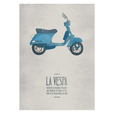 Italian Invention Series La Vespa Print