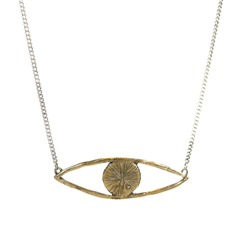 Eye Talisman Necklace in Brass