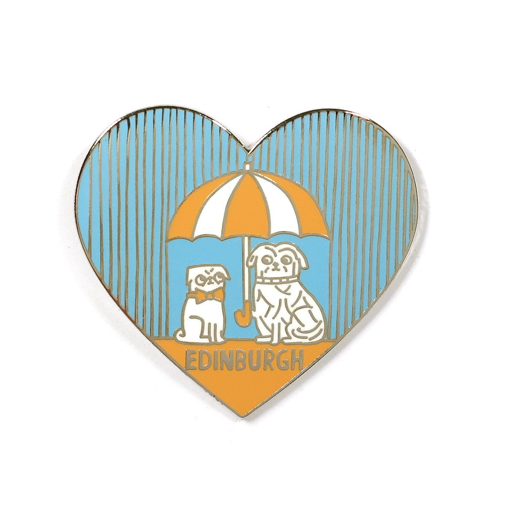 greyfriars bobby blue heart enamel pin from hannah zakari
