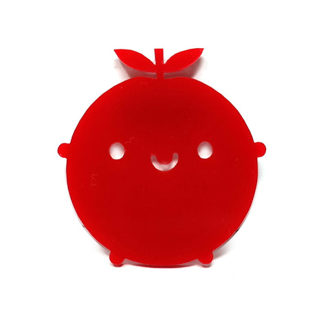 Happy Apple Brooch