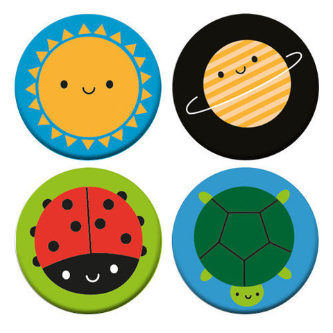 Happy Nature Badge Set