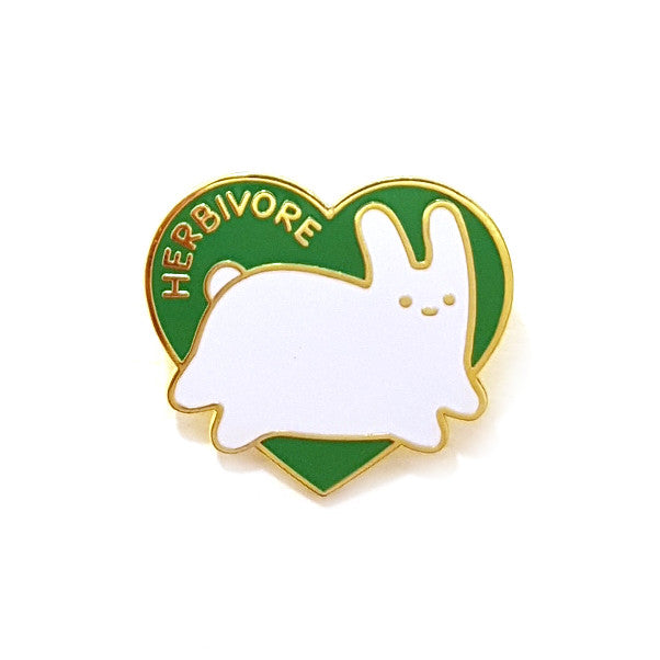 herbivore bunny rabbit heart enamel pin brooch
