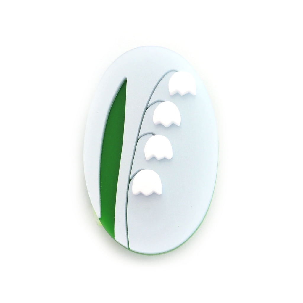 Acrylic Lily of the Valley Acrylic Brooch