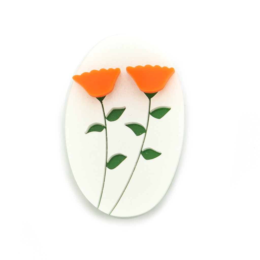 acrylic marigold flowers and meanings brooch