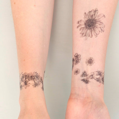 Daisy Chains Temporary Tattoo Set