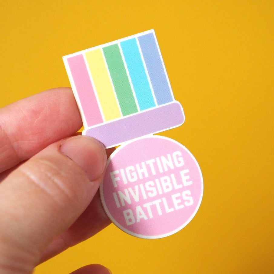 Fighting Invisible Battles Sticker
