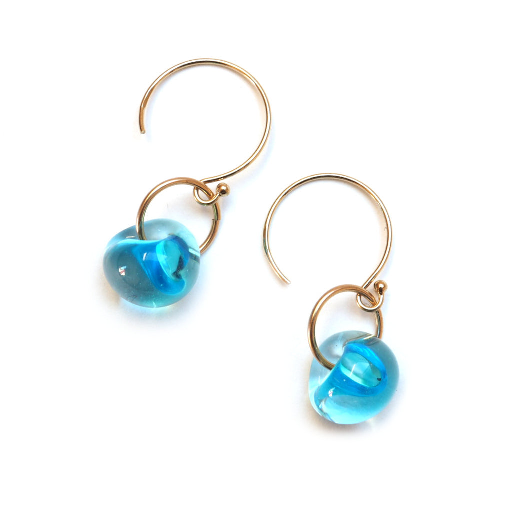 Single Drop Island Earring in Deep Blue