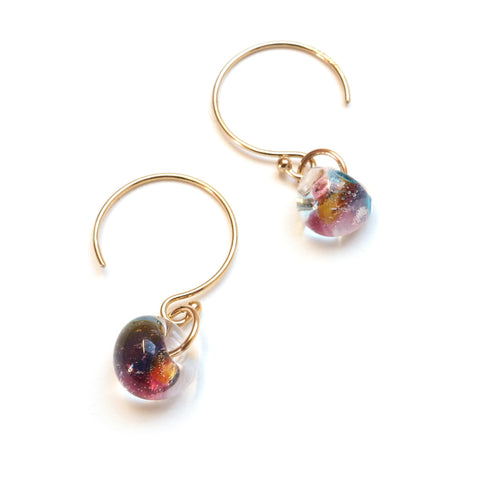 main image of Island Glass Bead Earrings in Wild Flower