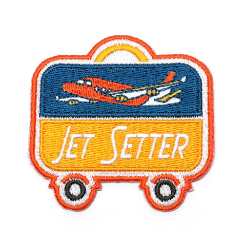 Jet Setter Iron-On Patch