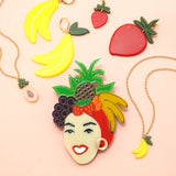 Carmen Miranda and Woll Jewellery Fruit Acrylic Image