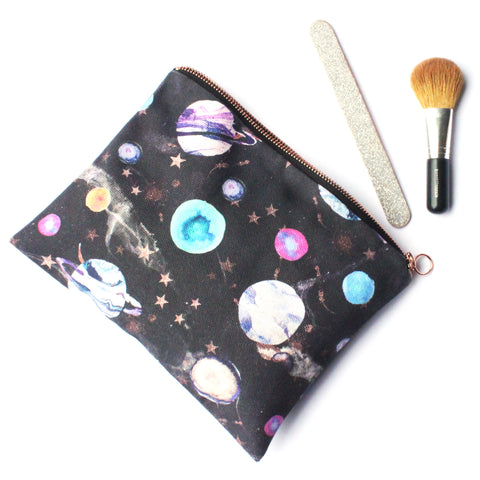 Marble Galaxy Fabric Travel Bag