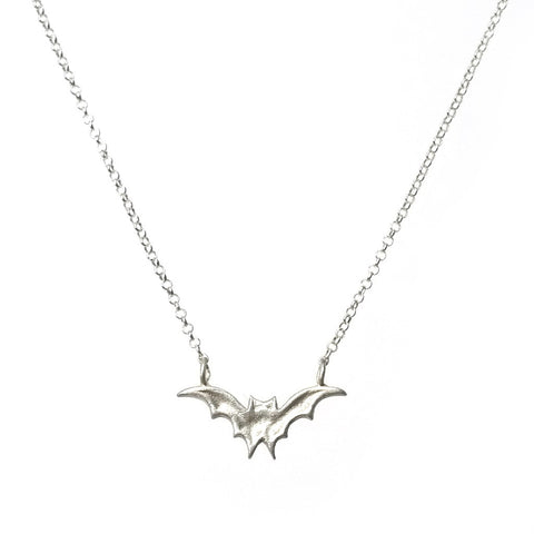 tiny sterling silver bat necklace by michelle chang