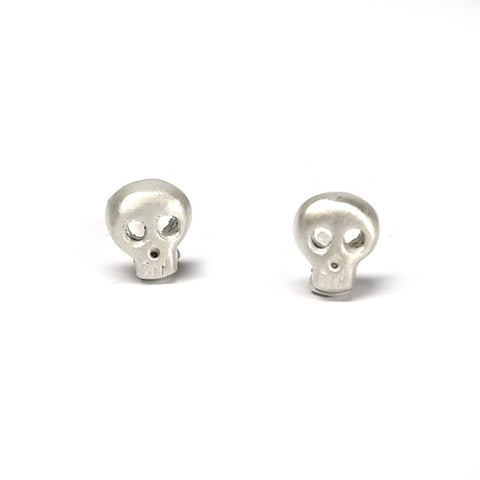 sterling silver tiny skull stud earrings by michelle chang