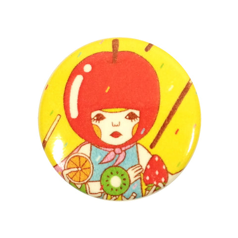 Fruit Cocktail Apple Hat Sunae Pin Badge