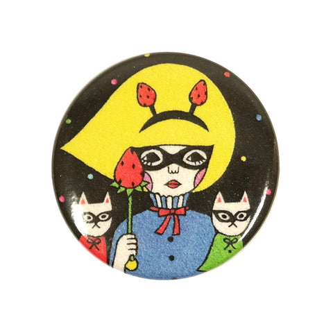 Cat Bandit Masked Sunae Pin Badge