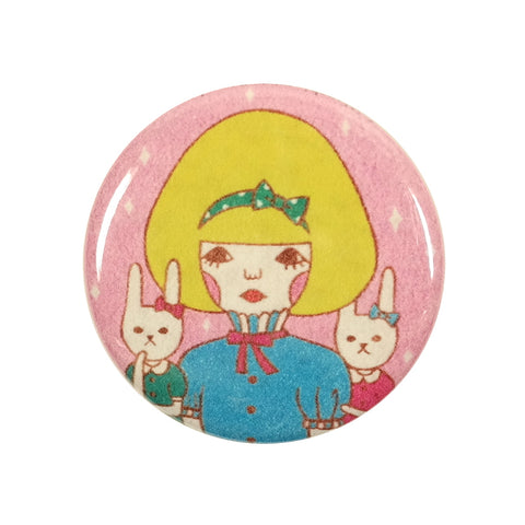 Girl at Bunny Party Sunae Pin Badge