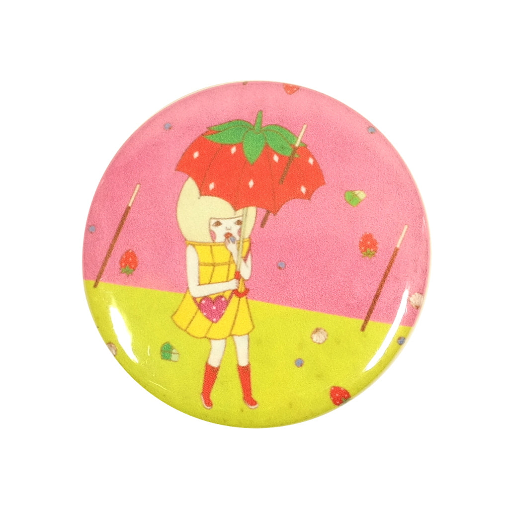 Sweets Typhoon Pocky Storm Strawberry Umbrella Sunae Pin Badge