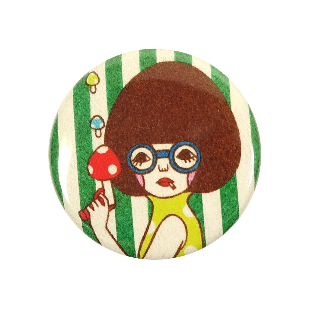 Girl with Mushroom Gun Sunae Pin Badge