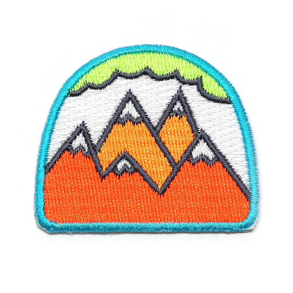 Neon Mountains Iron-On Patch