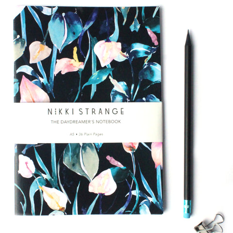A5 Night Lillies Notebook