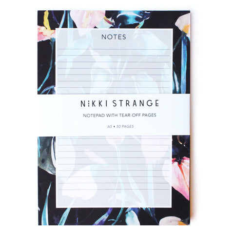 Night Lillies A5 Tear Off Notepad