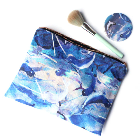 Ocean Narwhals Fabric Travel Bag
