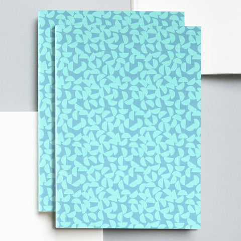 A5 Layflat Notebook in Turquoise/Slate Maze