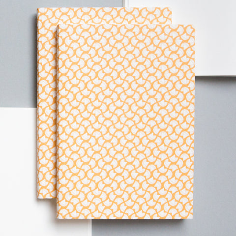 A5 Layflat Notebook in Yellow Curve