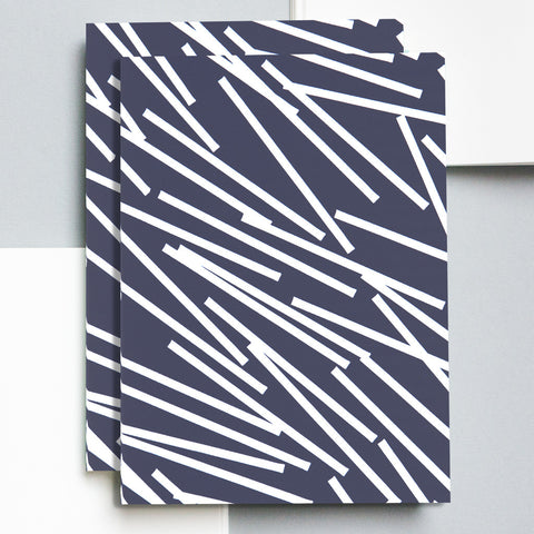 A5 Layflat Notebook in Navy Lines