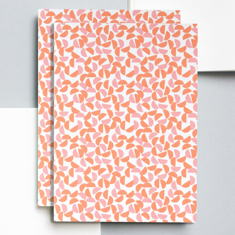 A5 Layflat Notebook in Orange/Salmon Maze